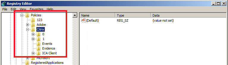 Citrix Receiver 4 x Store configuration through Group Policy fails