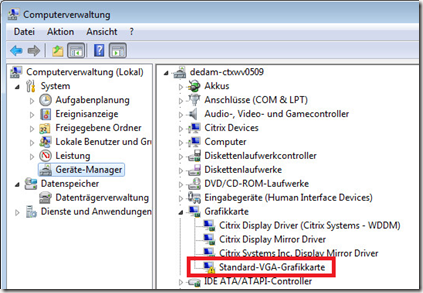 XenDesktop 7 6 Black Screen issue with VMWare SVGA 3D Driver