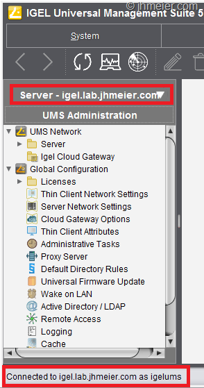 Creating a High Available IGEL Universal Management Server
