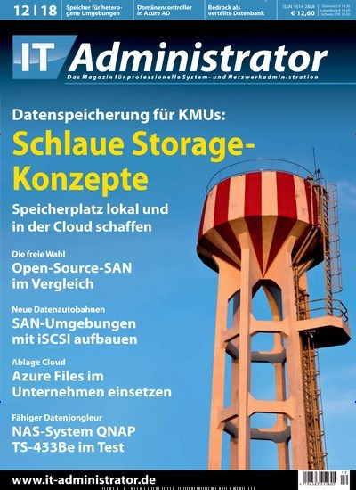 IT Administrator - epaper Titelbild Ausgabe 12/2018 (2112083)