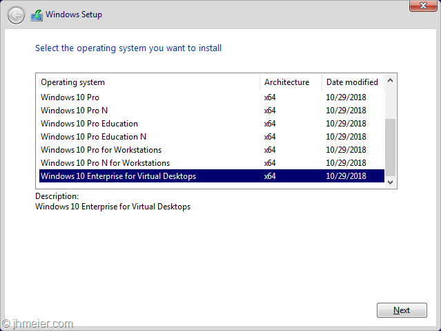 Windows 10 Enterprise for Virtual Desktops (or WVD On-Prem
