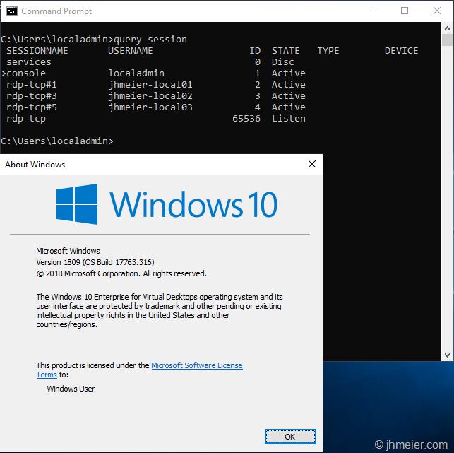 Windows 10 Enterprise for Virtual Desktops (or WVD On-Prem?) | Jan